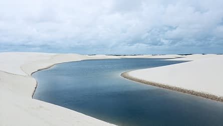 Lagoon in the middle of a sand dune