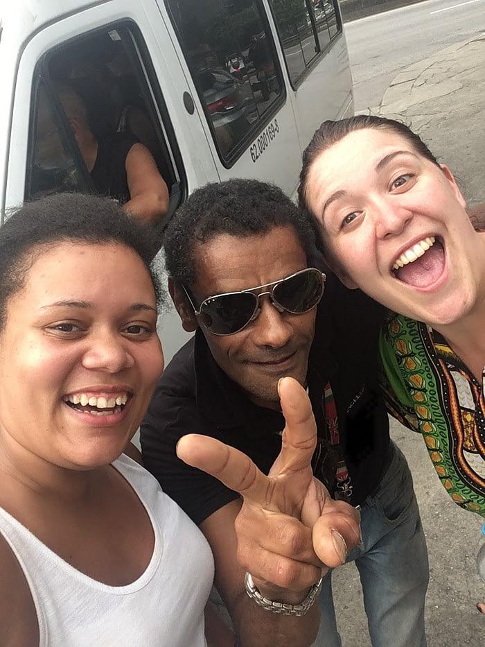 Smiles with Rio favelas tour guide