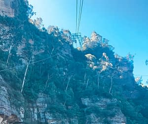 Cable Car over iconic Blue Mountains, Sydney