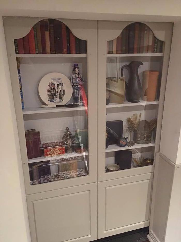 Inconspicuous Bookshelf Doors