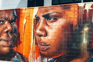 Broome Street art - image of two aboriginal children