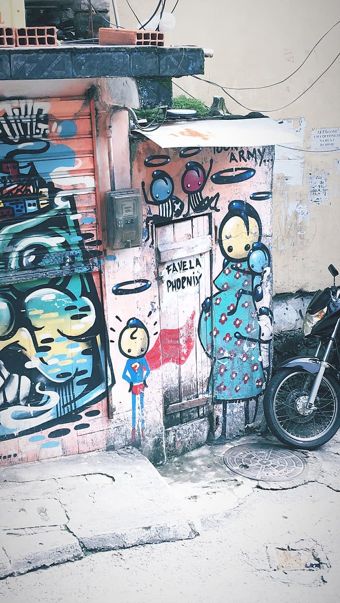 Stik street artist piece Rio