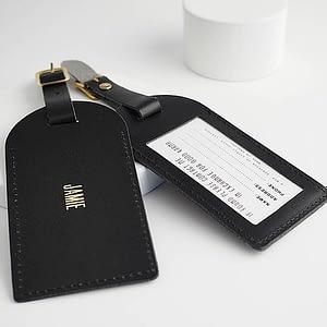 Personalised luggage tags