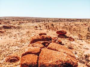 Devils Marbles - Image of large boulders in outback Australia