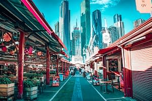 Queen Victoria Market - Image of outdoor shop stalls - Ultimate Guide to Melbourne