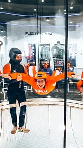 iFLY Perth - Sarah practicing skydiving