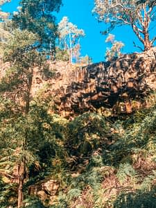 Creswick - Waterfall over red rock cliff