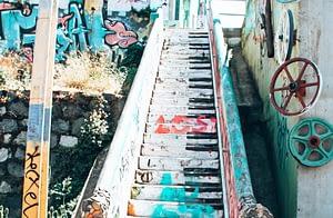 Piano Stairs Valparaiso Chile