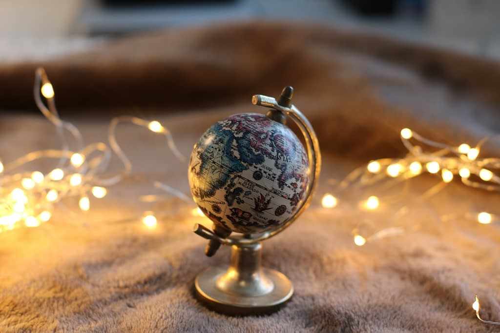 Mini globe with fairy lights