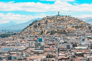 Image of religious statue overlooking Quito Must-see Attractions