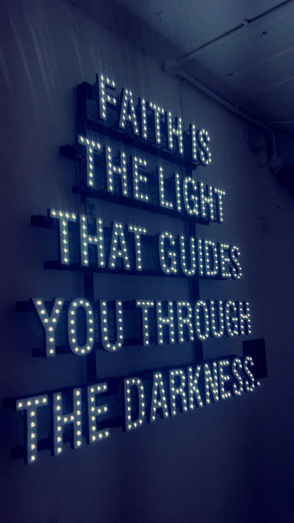 Faith is the light that guides you through the darkness