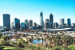 Perth CBD Skyline from King Park