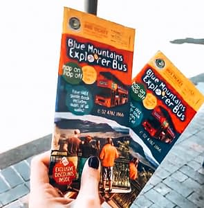 Image of tickets for the Explorer Bus, Blue Mountains Sydney