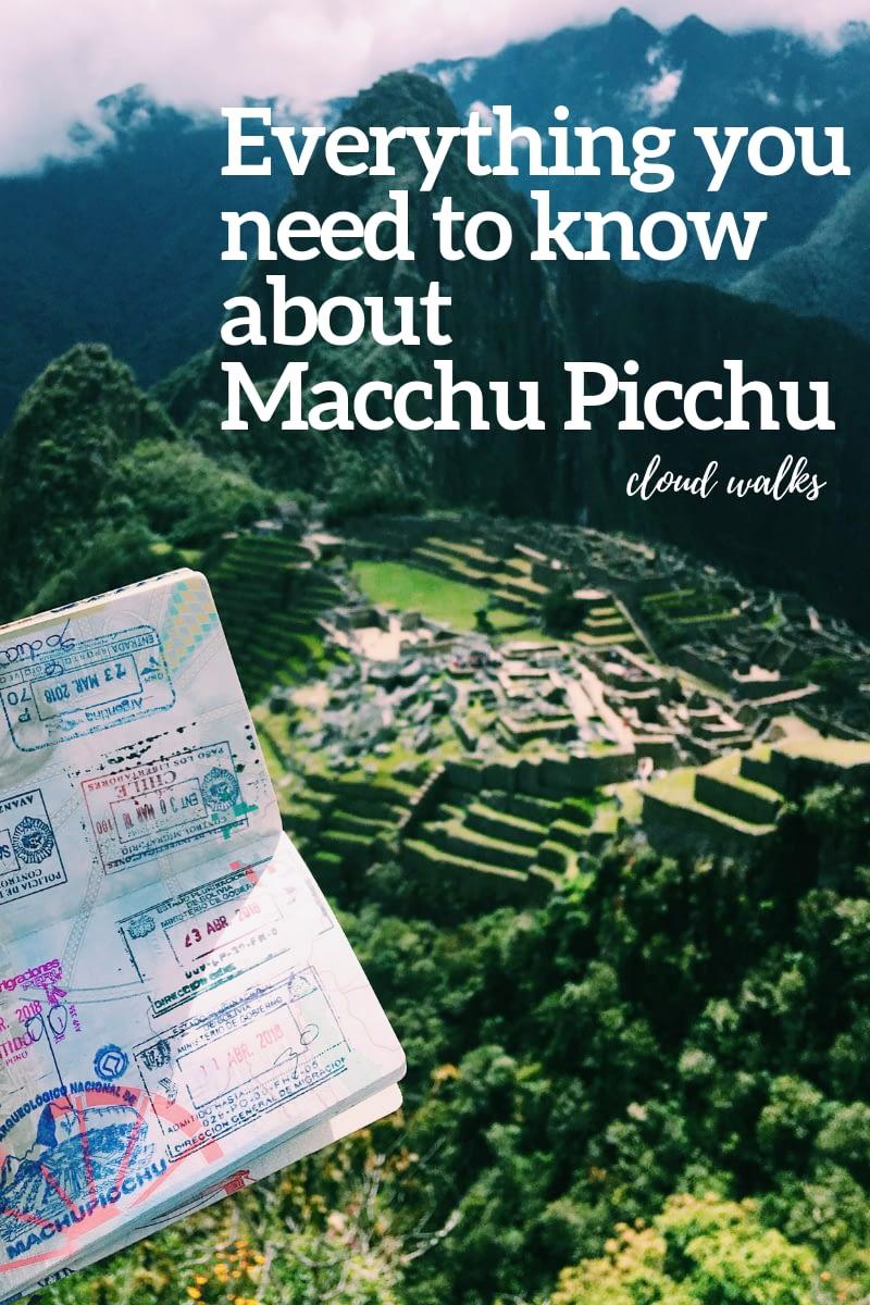 Machu Pichu Travel Guide