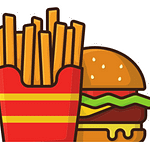 North America Icon - Burger & Fries
