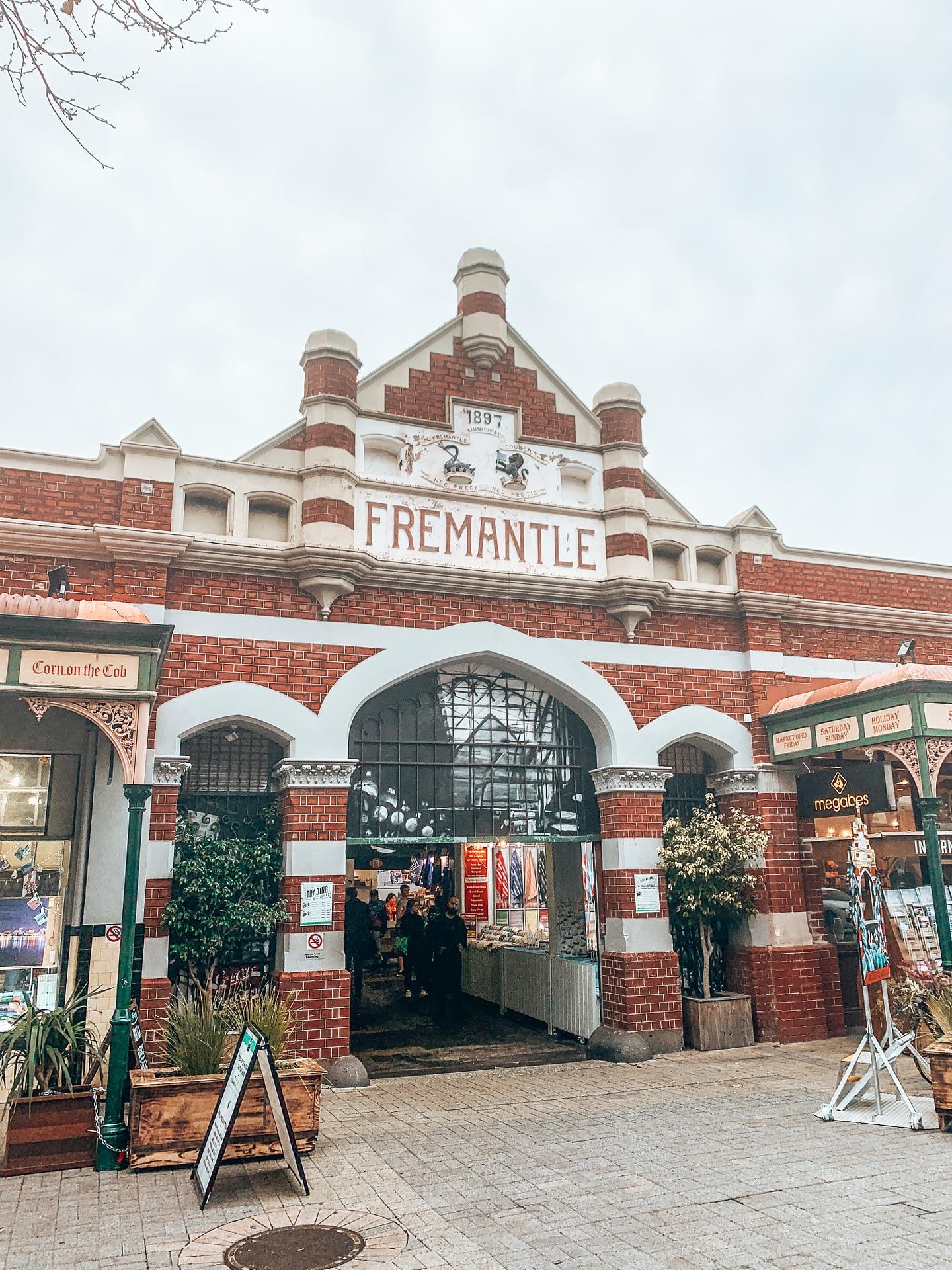 Fremantle Markets Perth - Image showing grand door entrance