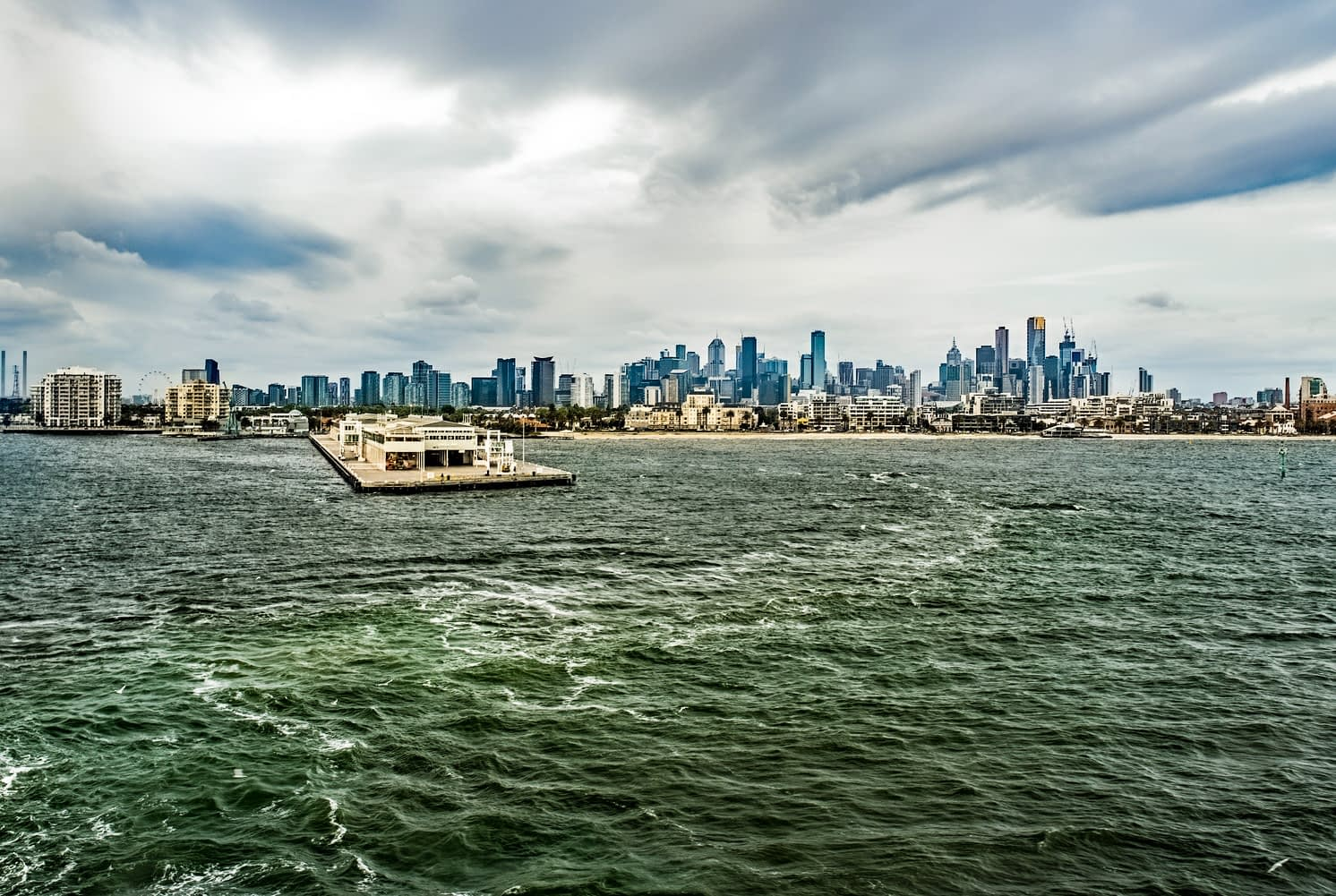 Spirit of Tasmania Ferry - Melbourne City Skyline view from the Ferry - Lap of Tasmania