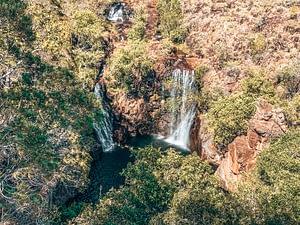 Litchfield National Park - Image overlooking cascading waterfall below