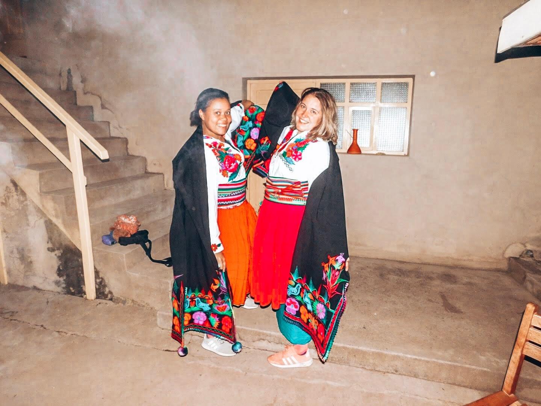Tradional Dress Lake Titicaca Peru