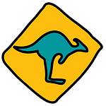 Oceania Icon - Kangaroo Road Sign