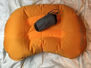 Colourful travel pillow