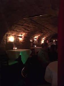 Cocktail bar in a brick tunnel